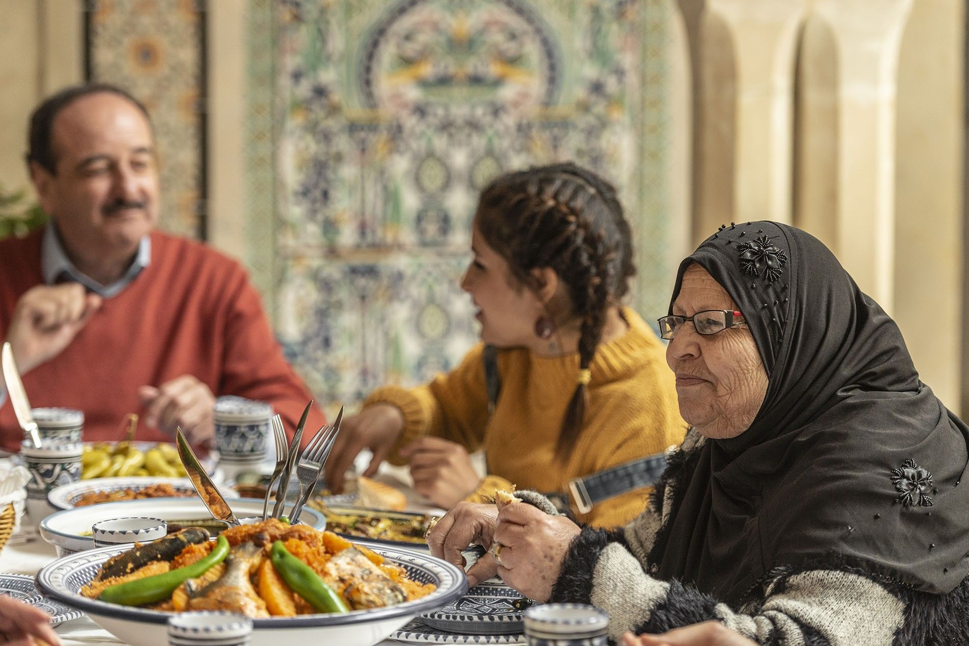 Family lunch in Nabeul, Tunisia