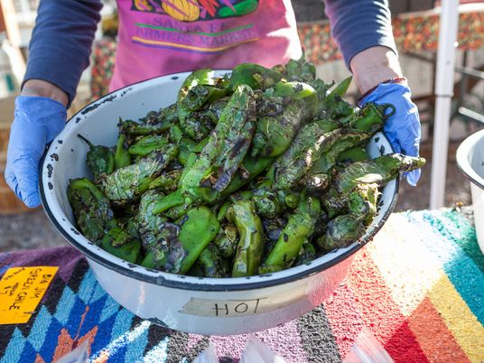 Tasting New Mexico chiles in Santa Fe