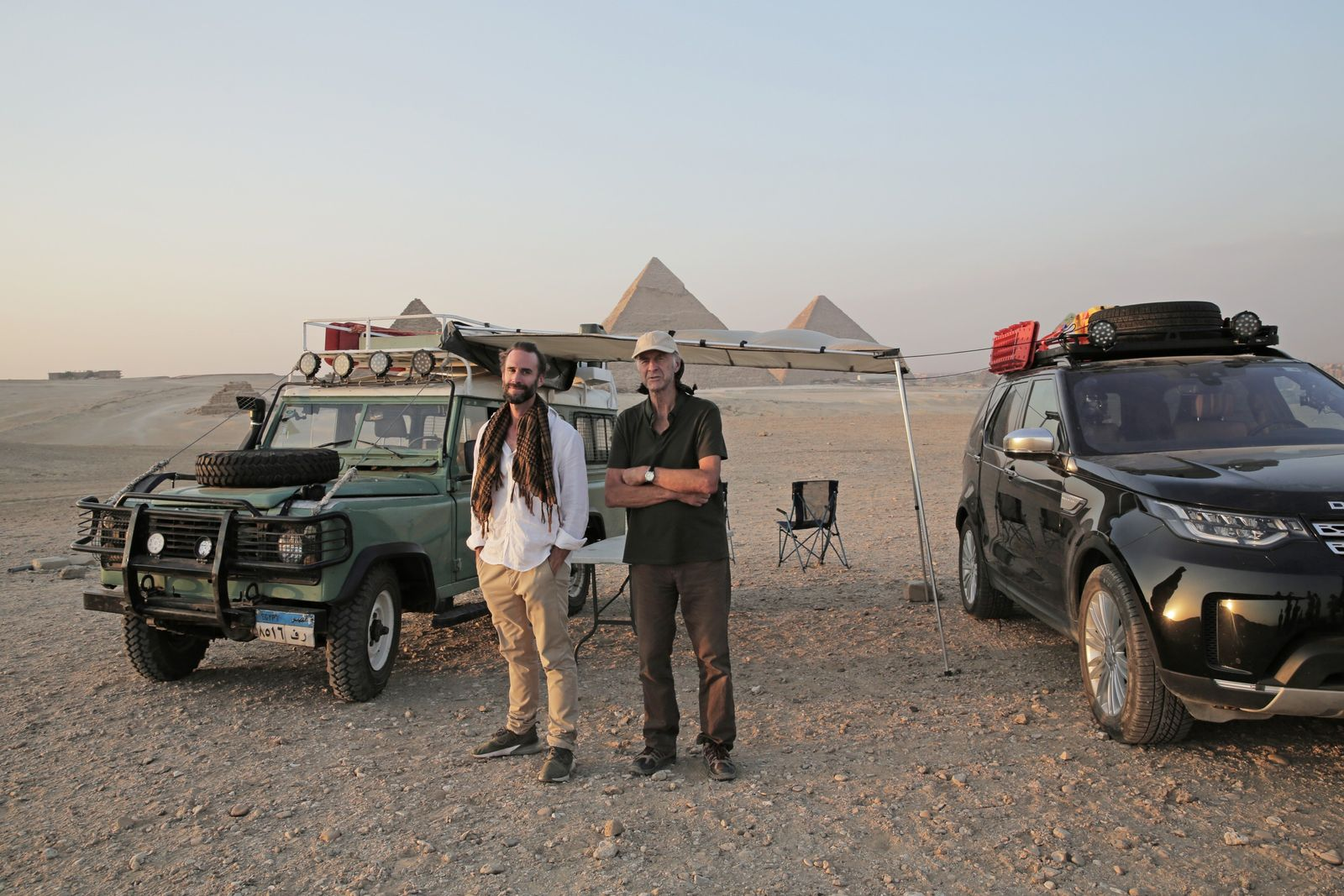 """The Pyramids of Giza, outside Cairo. Joe says: """"Ran had to ignore the pyramids [on the ..."""