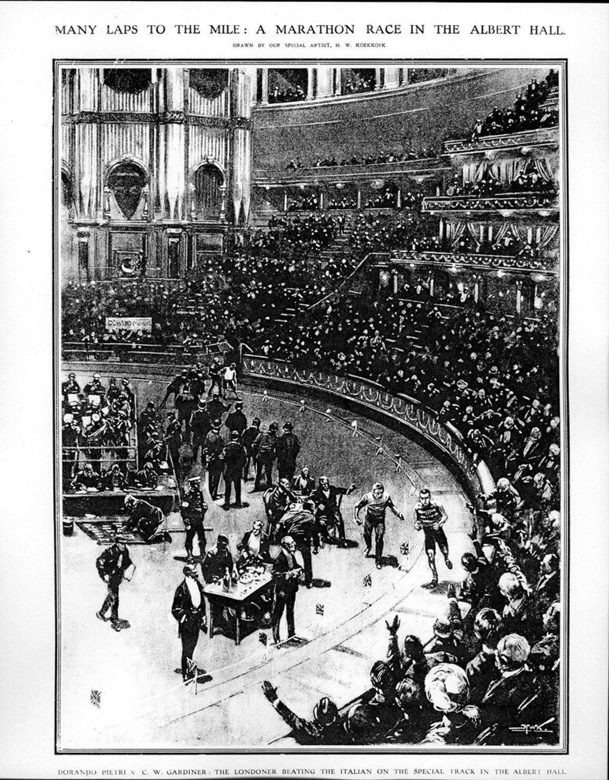 Sporting events such as the first indoor marathon in 1909 have been a part of the ...