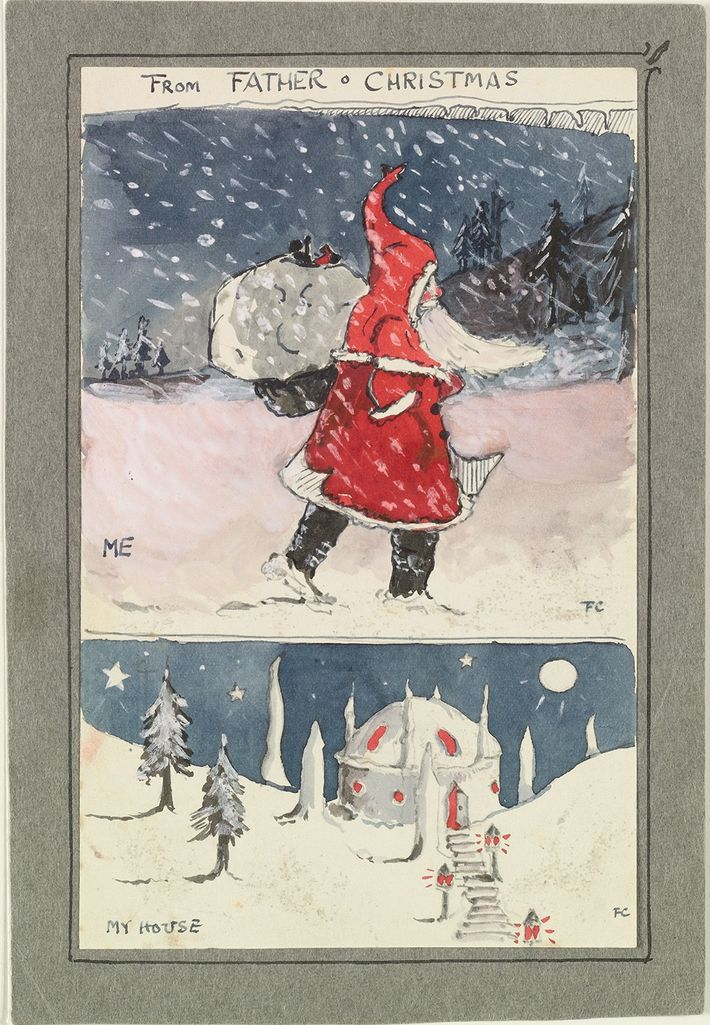 First drawing from Father Christmas, 1920