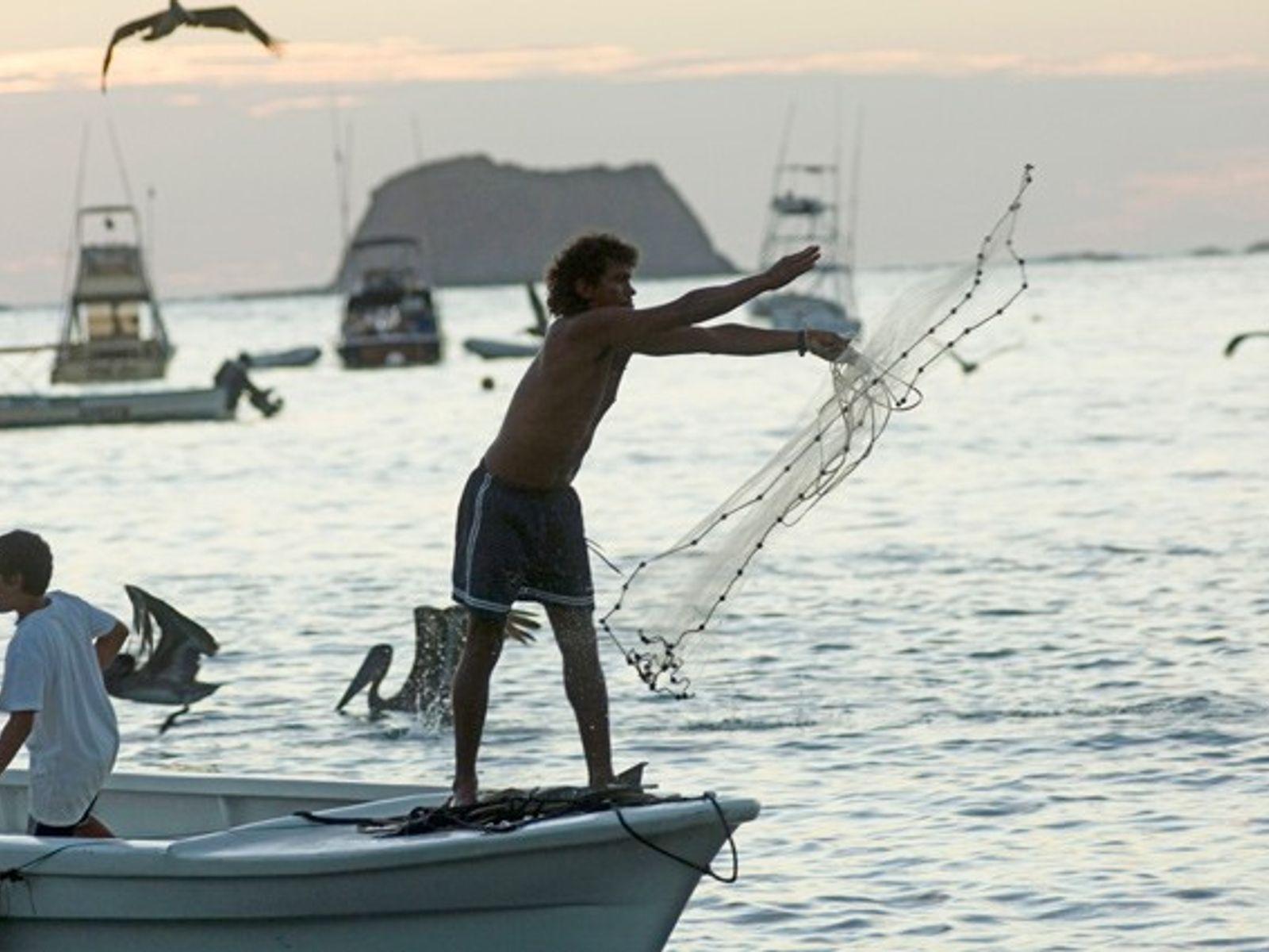 Fisherman at Carrillo Beach, farm to table in Costa Rica