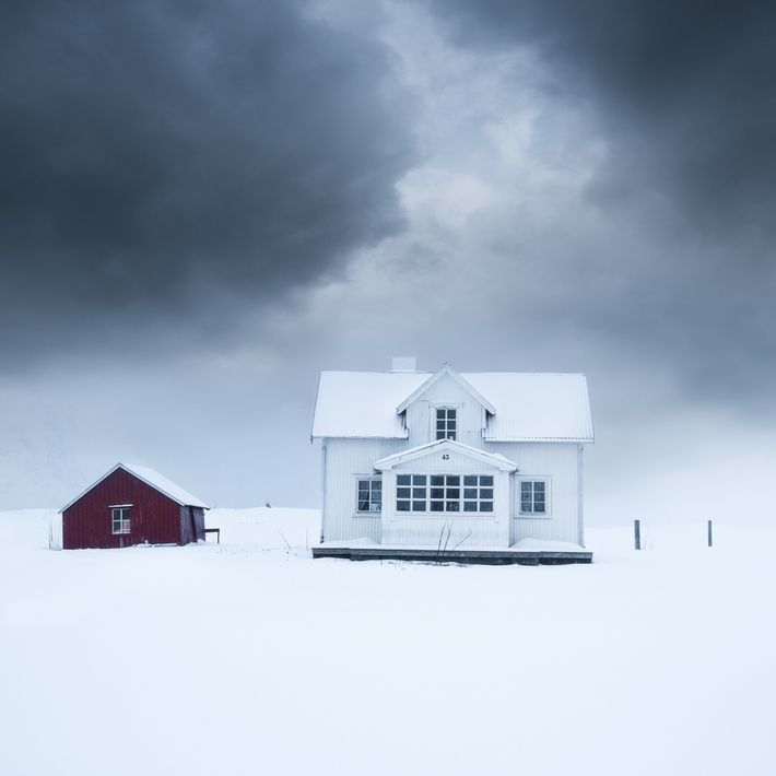 "A cloud system circulates over a house in Fredvang, Lofoten. Stian Klo: ""There are lots of ..."