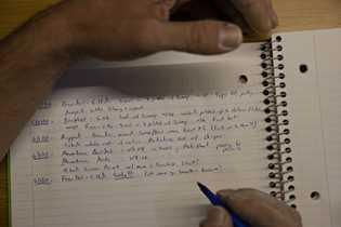 Alex Honnold has kept a climbing journal since 2005. Here he records a day's climbing event.