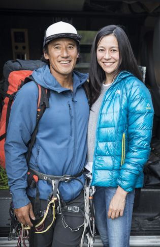 Co-directors and producers of Free Solo, Jimmy Chin and Chai Vasarhelyi.