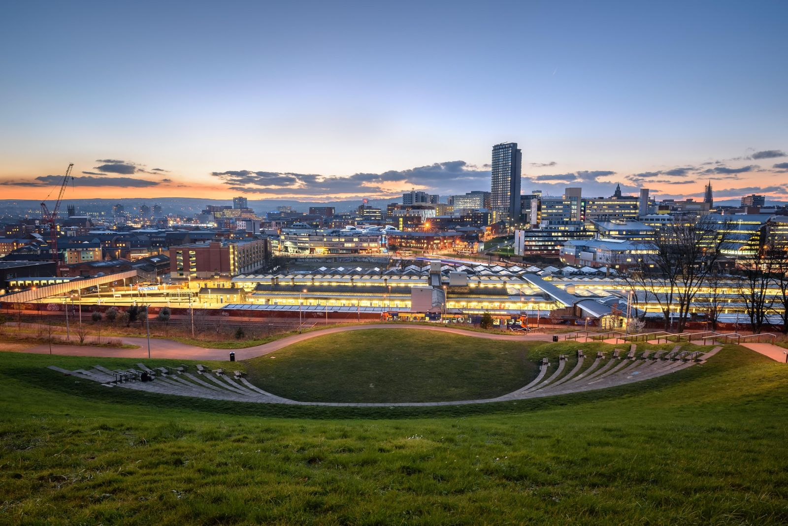 """Modern Sheffield. """"Without Sheffield we couldn't have produced the steel we needed to win the war... ..."""