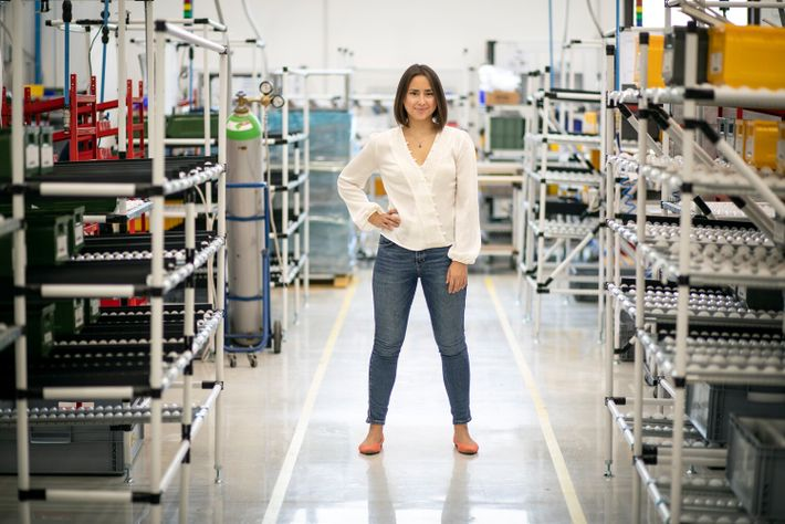 Vaitea Cowan, Co-founder of Enapter, who manufacture the AEM Electrolyser.