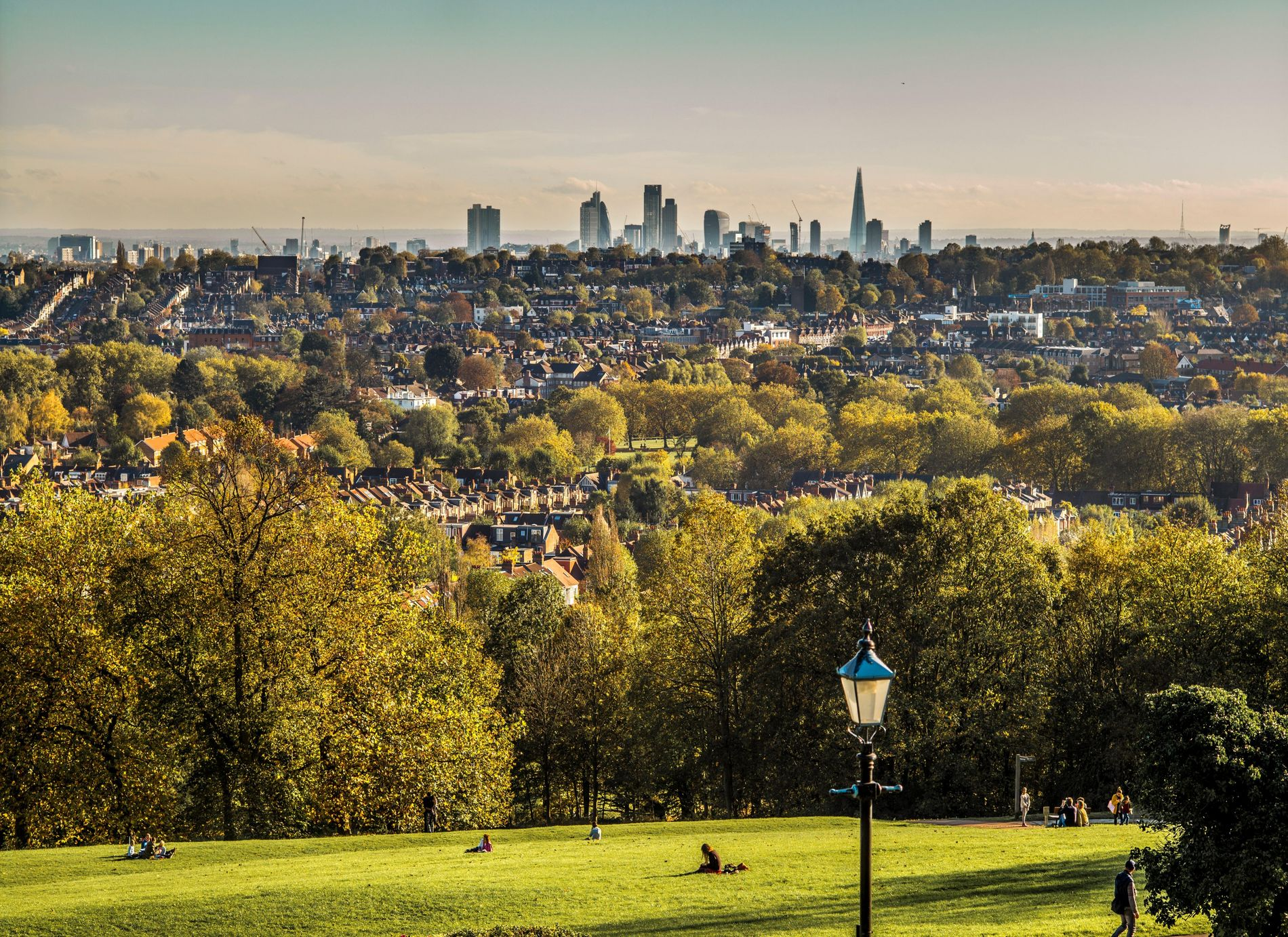North London and London City with The Shard, from Alexandra Park.