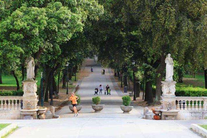 Villa Borghese Gardens, Rome.
