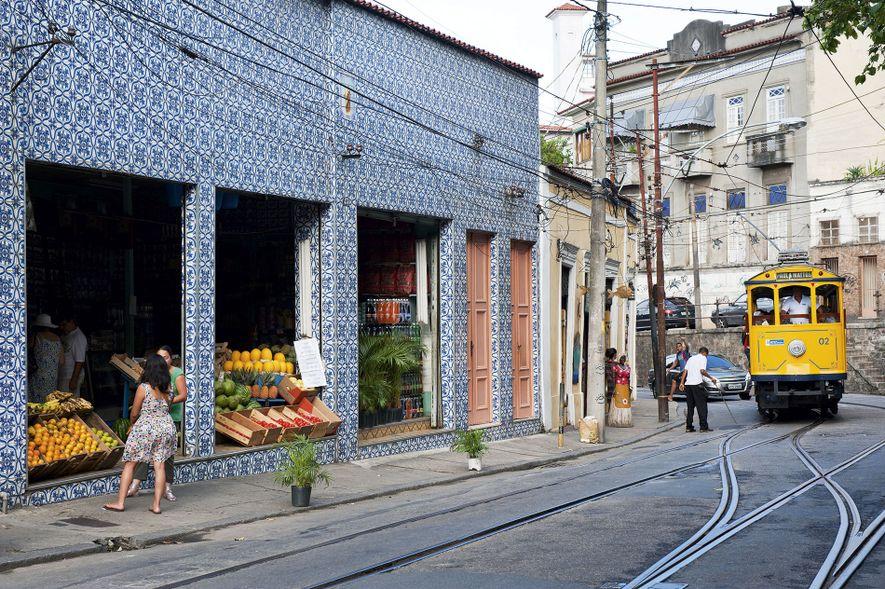 Traditional tiled fruit shop in the Santa Teresa neighbourhood