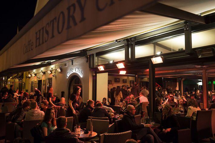 Cafes at night, Zagreb