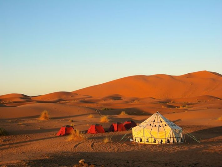 Huts in the desert