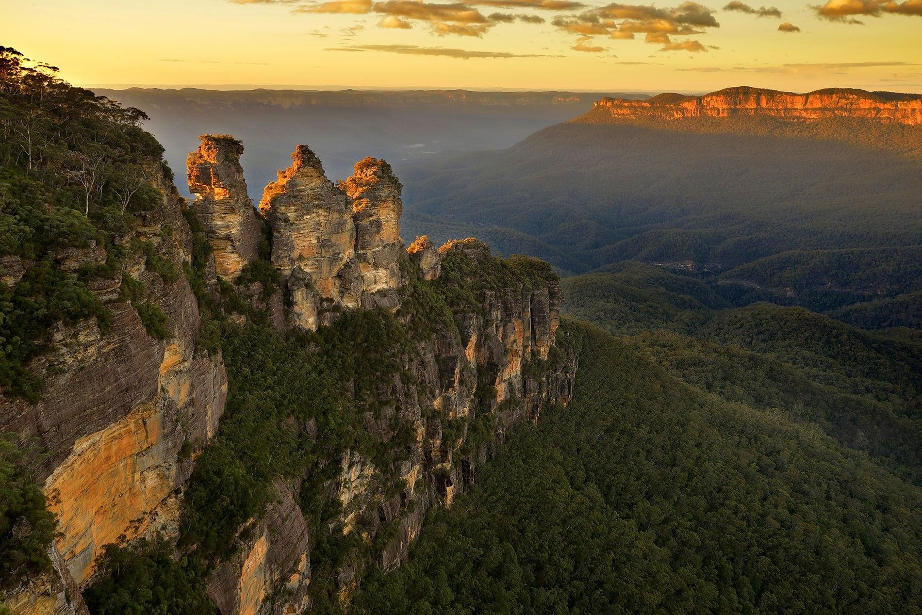 The 'Three sisters' in Blue Mountains, New South Wales
