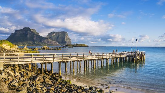 Jetty at Lord Howe Island, New South Wales