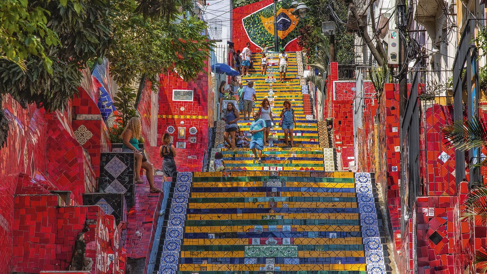 Escadaria Selaron, stairway in Lapa district