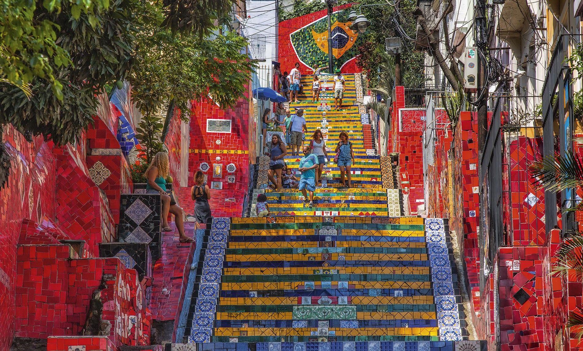 Escadaria Selaron, stairway in Lapa district