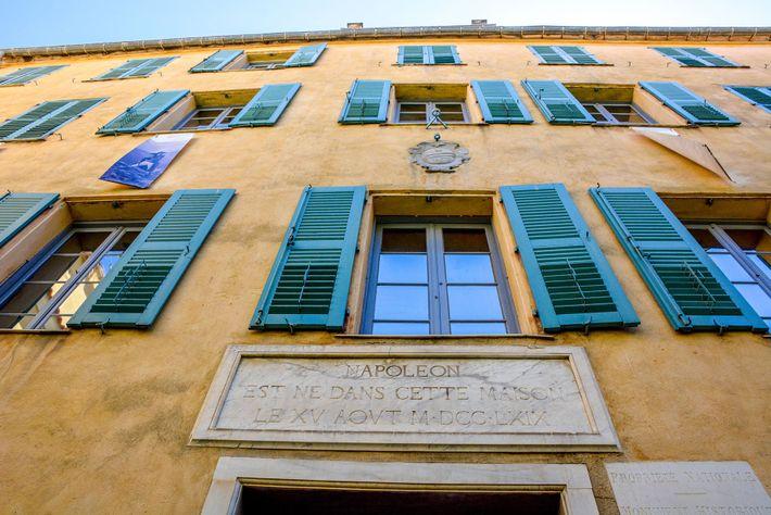 Maison Bonaparte, the birthplace of Napoleon in Ajaccio, Corsica