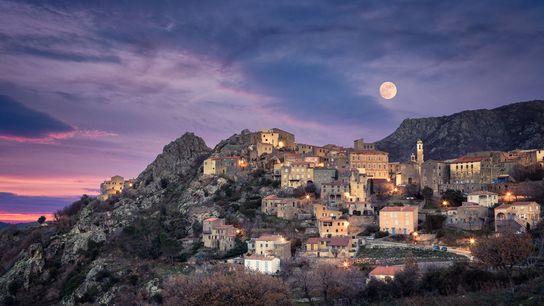The village of Balagne, Corsica