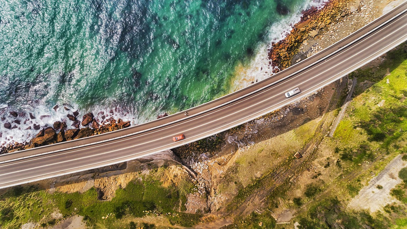Aerial View of the Sea Cliff Bridge, Grand Pacific Drive, New South Wales