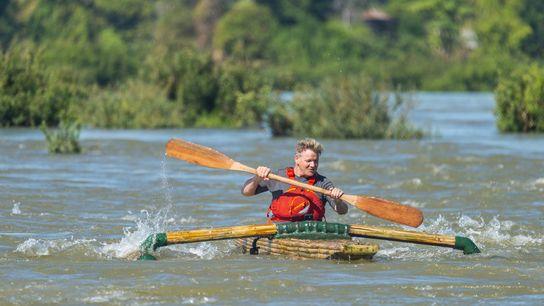 Gordon Ramsay on the Mekong.