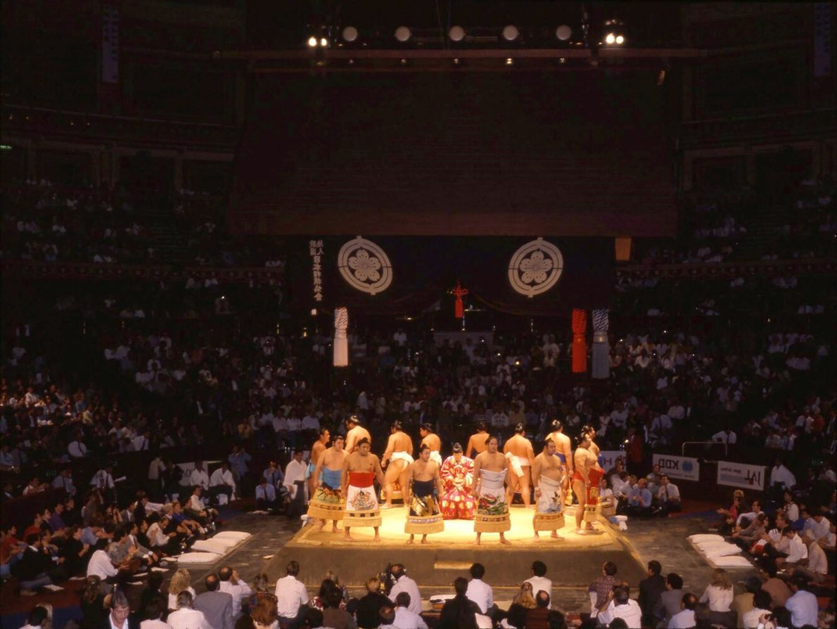 The Hall hosted the Grand Sumo Tournament as part of the festival of Japan in 1991.