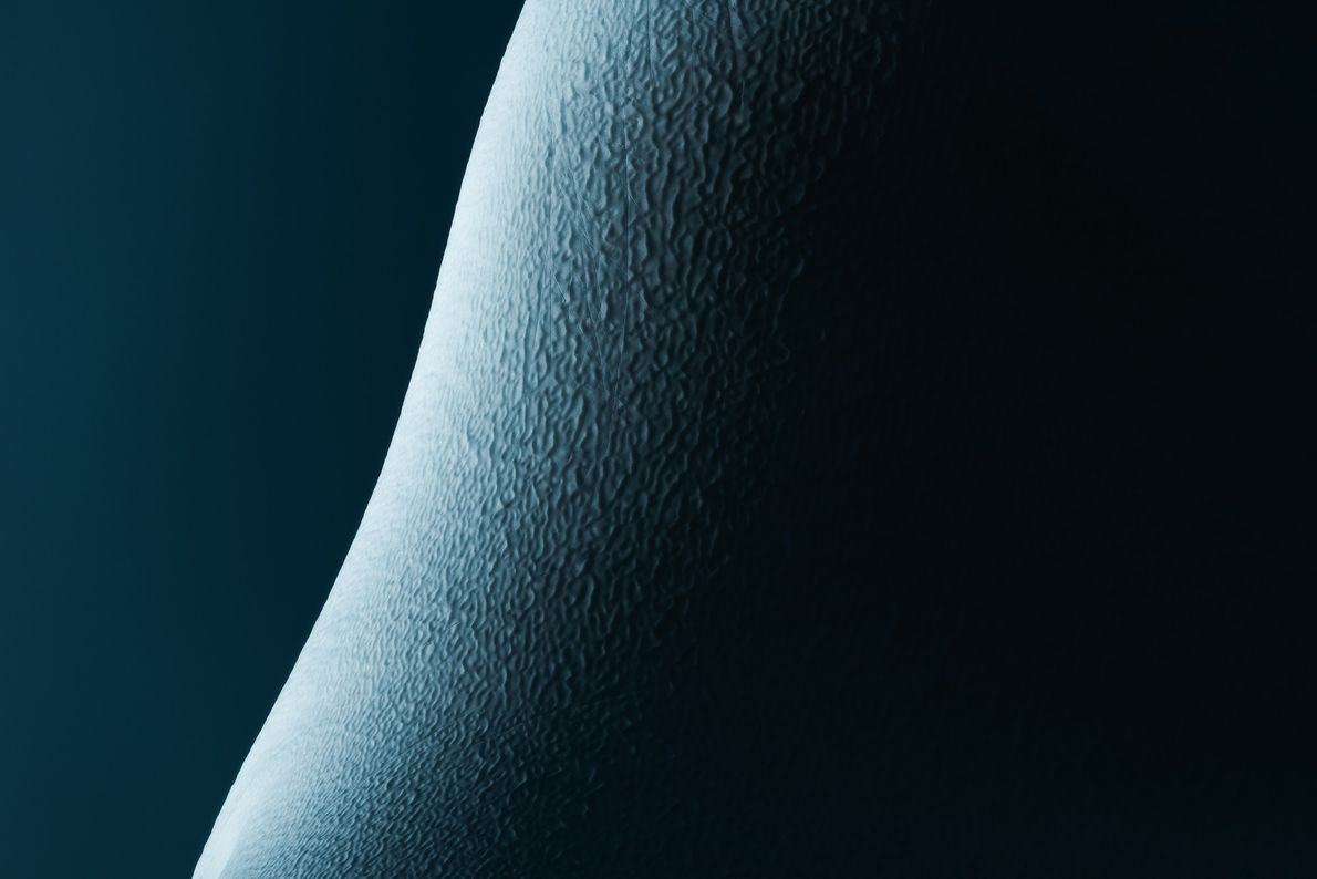 """Stian Klo: """"The very last light just bouncing of the round edge of the iceberg. I ..."""
