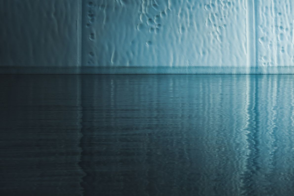 "Stian Klo: ""I just loved the simplicity of this scene from the Ilulissat Icefjord. Calm waters ..."