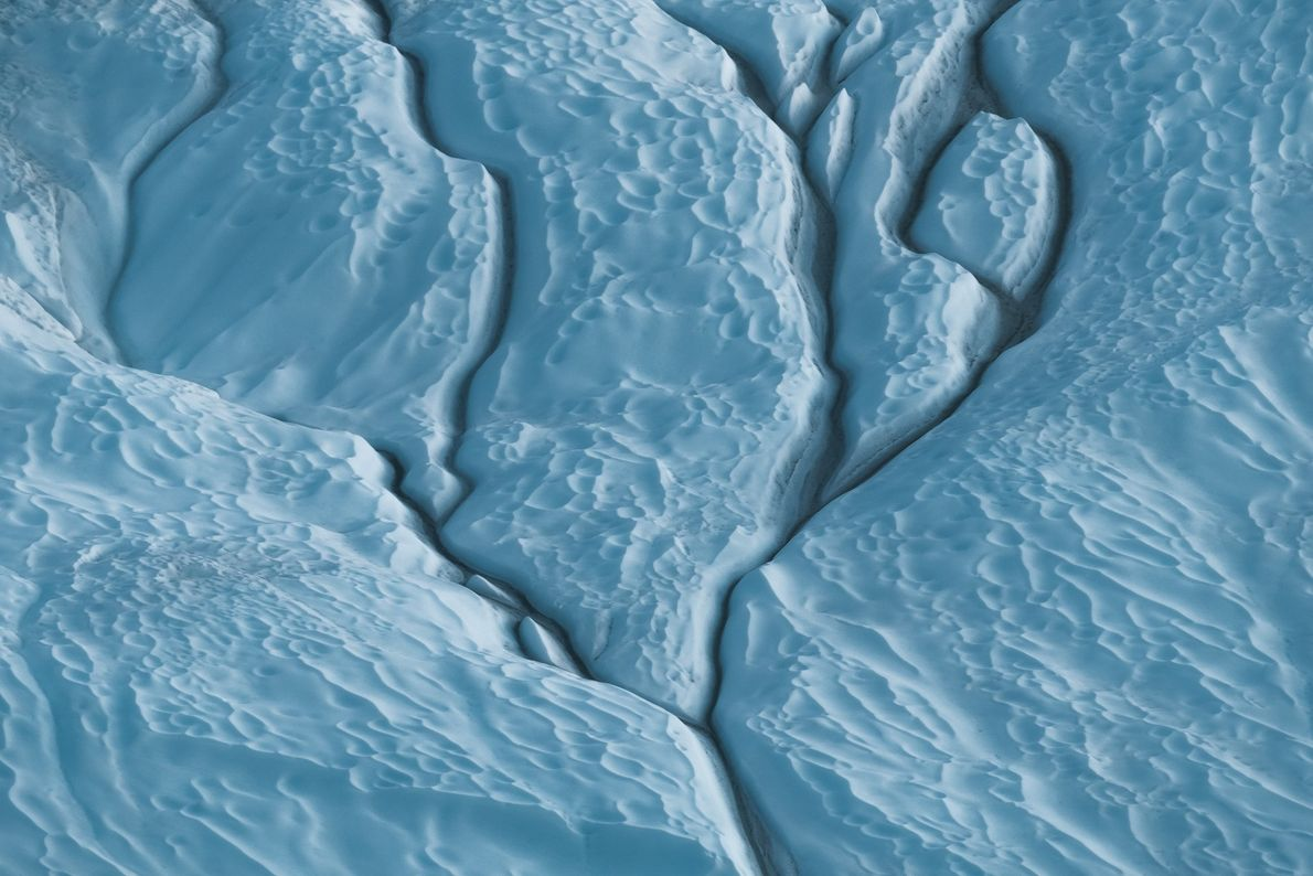 """Stian Klo: """"Water always finds it way down to the lowest point. This particular iceberg was ..."""