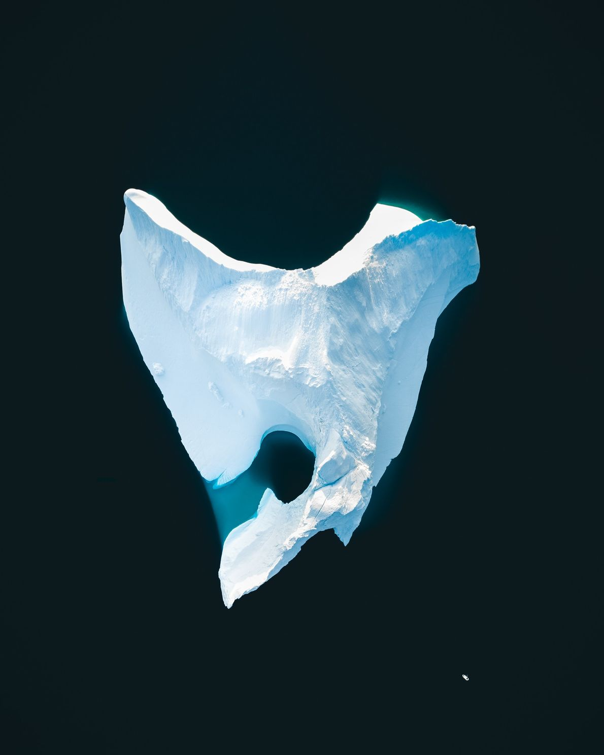 """Stian Klo: """"We found this colossal iceberg in the Rode Bay area, just north of Ilulissat. ..."""