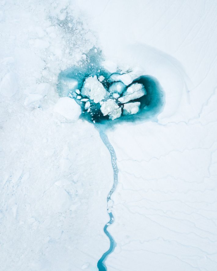 """""""I photographed this in the Disko Bay, at the mouth of the Jakobshavn glacier. Seemingly nothing ..."""