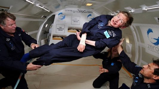 The day that Stephen Hawking floated In 'Space'