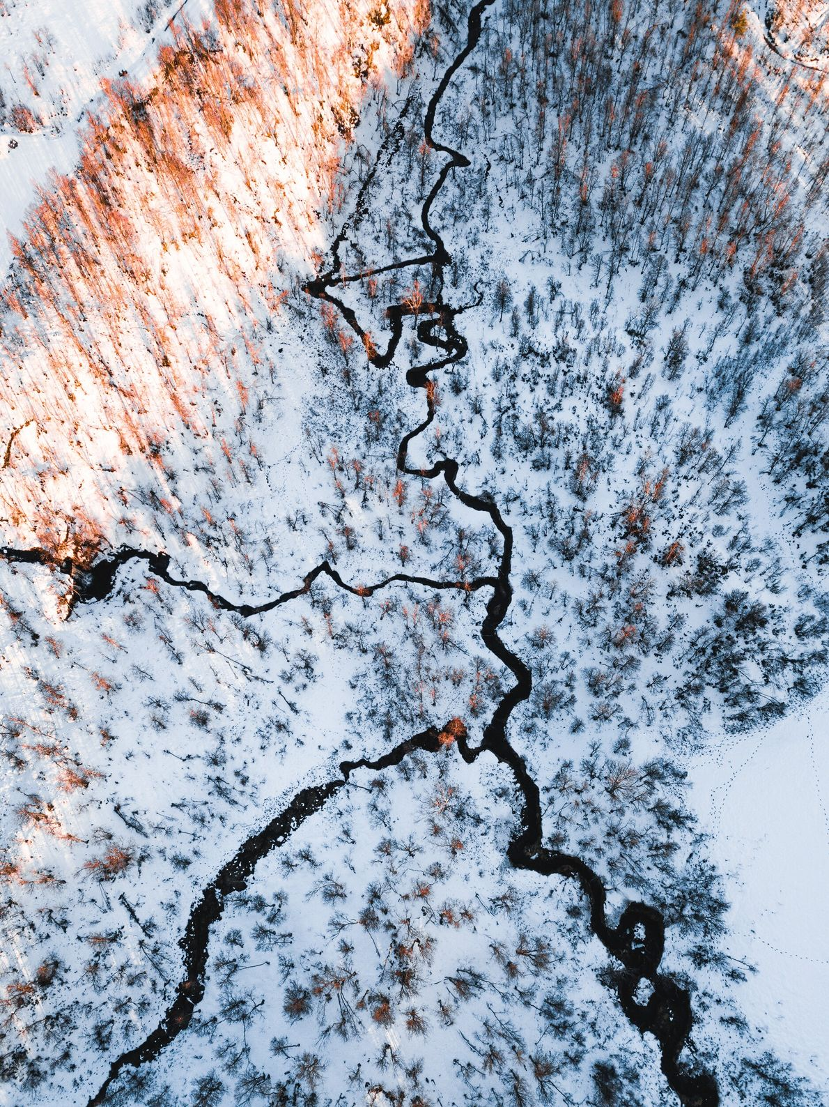 "A drone perspective on Herjangsfellet, in the Narvik region of Norway. Stian Klo: ""If its too ..."