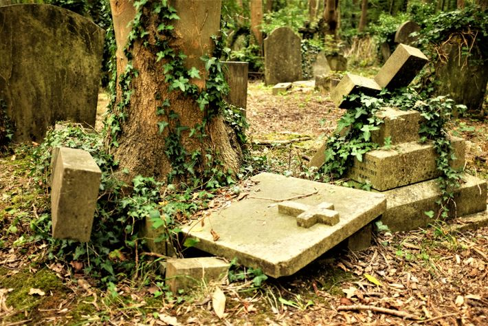 Gravestones that fail the strength-testing process are laid flat to prevent injury. But such safety precautions ...