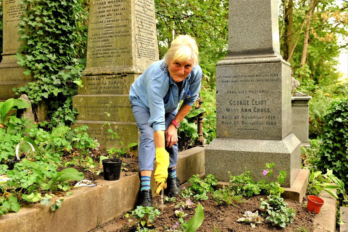 A labor of love. Joy Redfern comes down from the midlands to London's Highgate Cemetery to ...