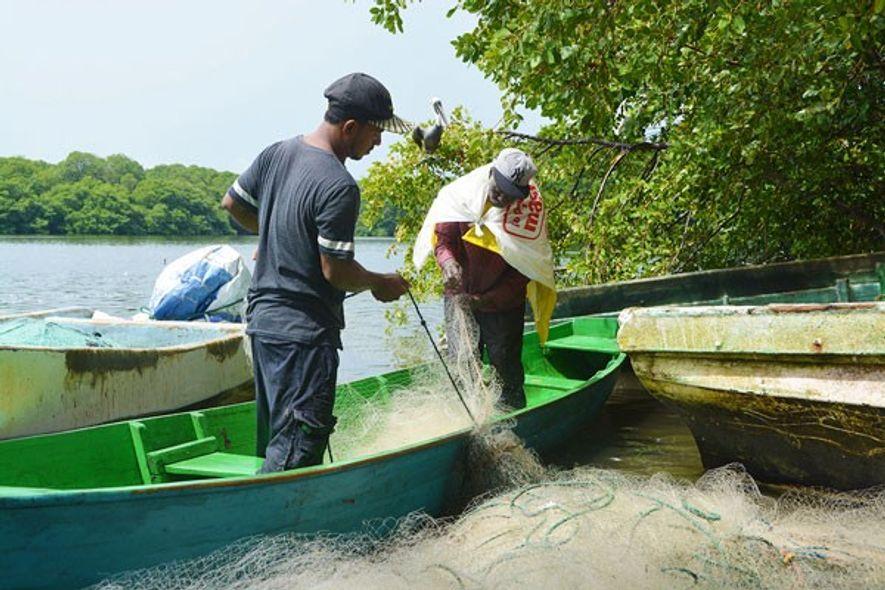 Garifuni fishermen.