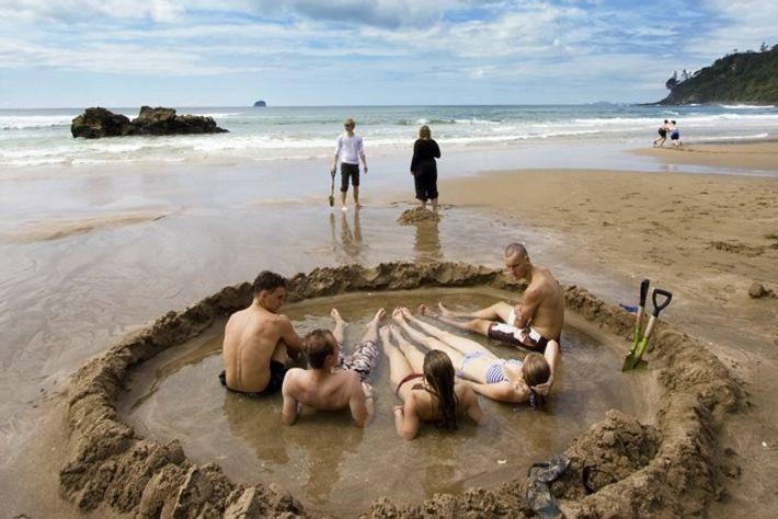 Hot Water Beach, New Zealand. Image: Peter Mitchell.