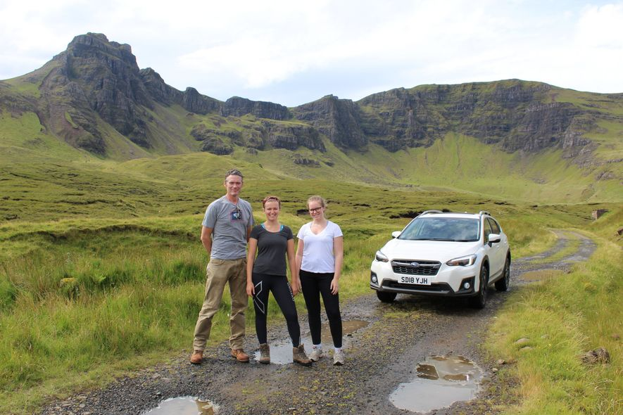 National Geographic competition winners on Skye with Charlie Hamilton James (left)
