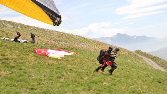 Slovenia: Paragliding above the Soca