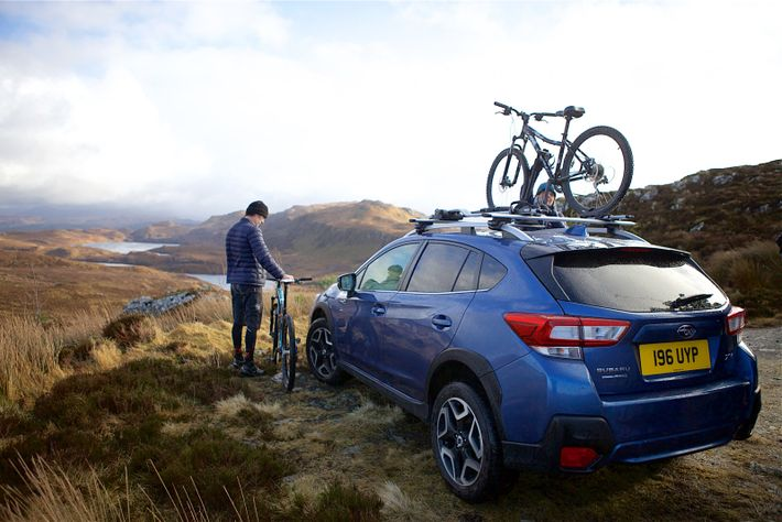 Load your bikes onto your Subaru using Subaru's premium bicycle holder or rear bicycle holder