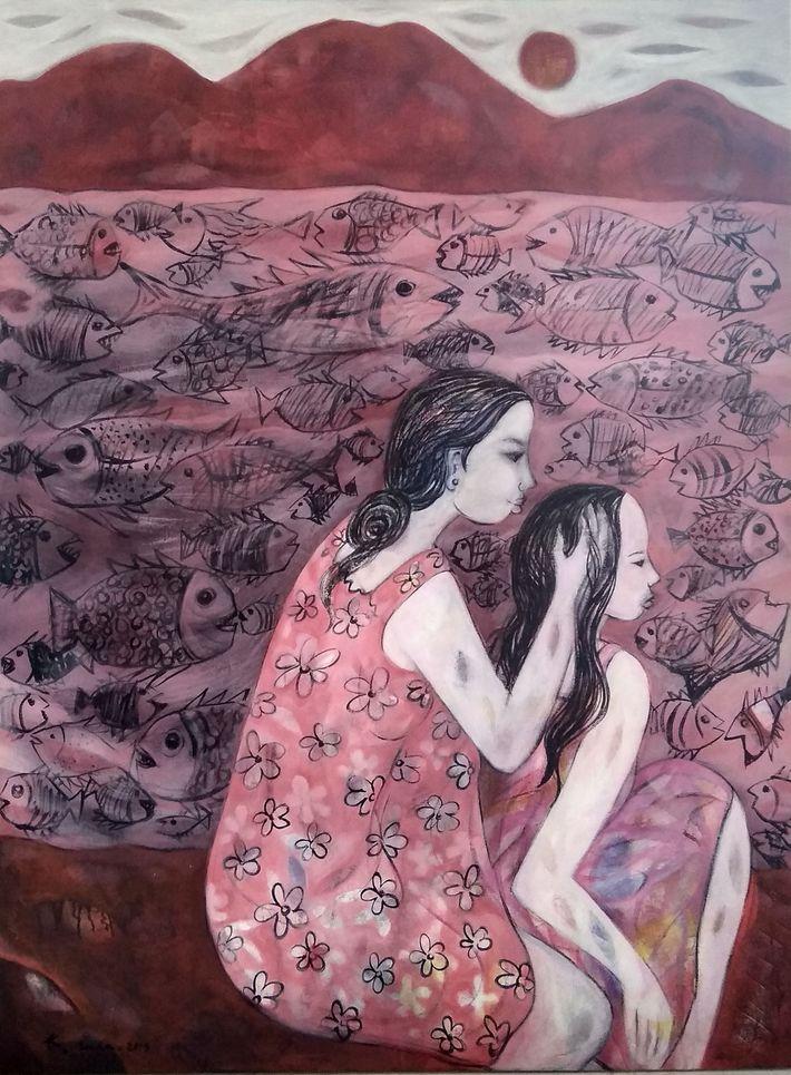Iman's painting