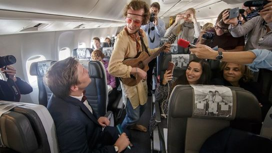 Icelandair staff and actors star in 'Ahead of Time' — an immersive theatre production in the ...