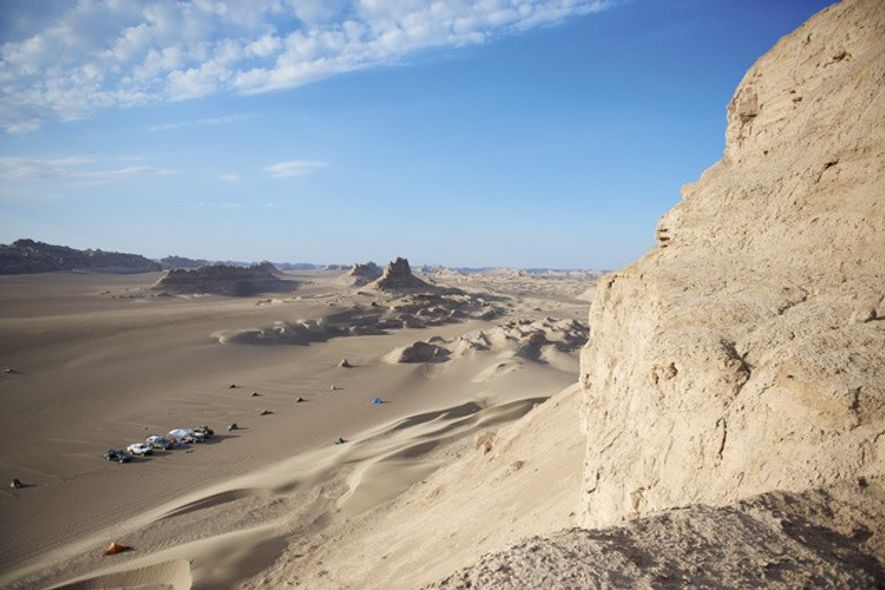 The first desert camp