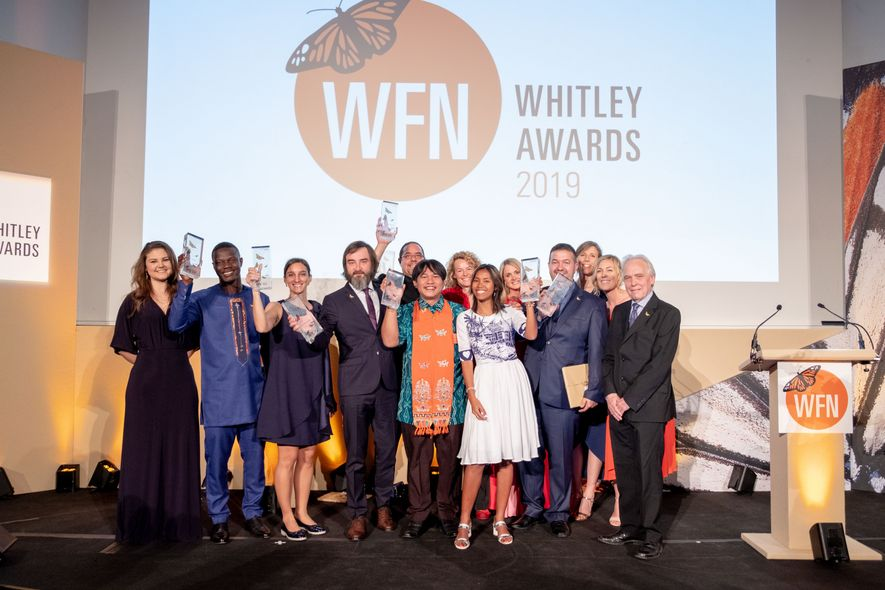 The winners of the Whitley Awards 2019.