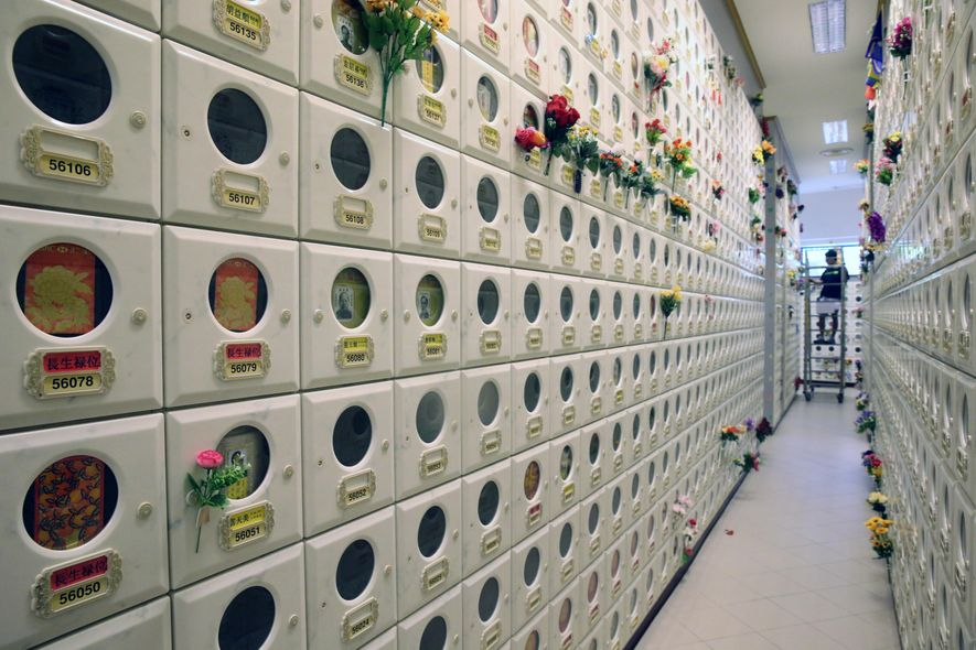 In Singapore, chronic lack of land makes memorials such as those at the Pu Tong Ta ...