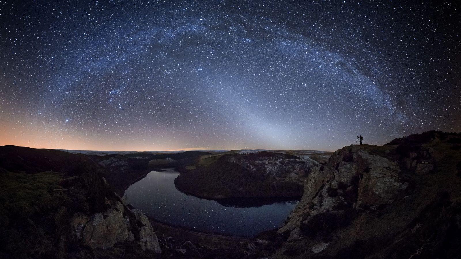 "Alyn Wallace: ""The jewel encrusted winter night sky above Garreg-Ddu reservoir in the Elan Valley, Mid-Wales. ..."