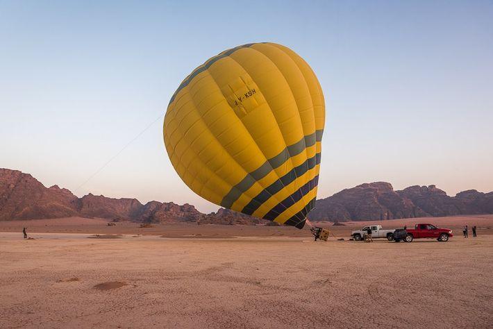 Hot air ballooning in Wadi Rum, Jordan