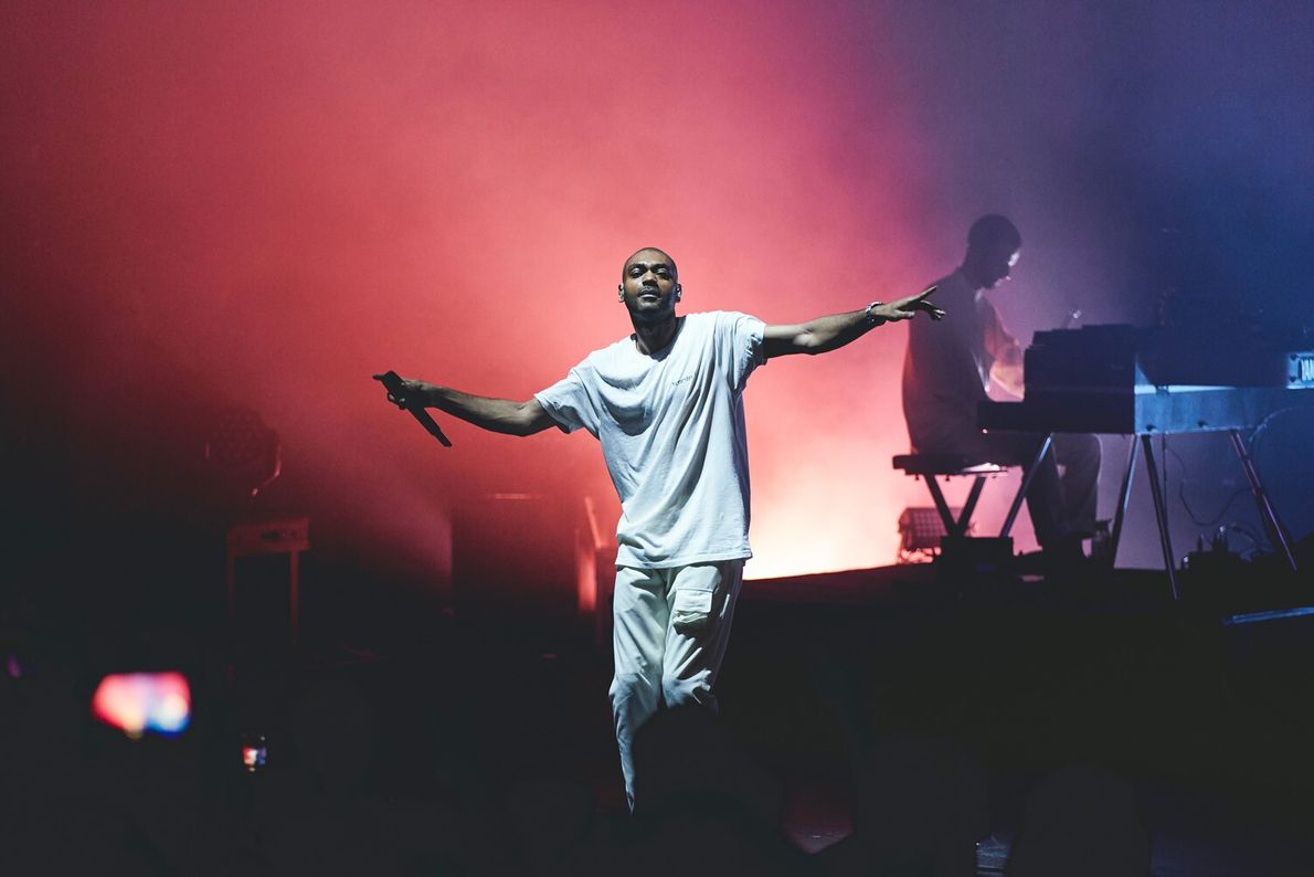 Grime pioneer and rapper Kano onstage in 2019.