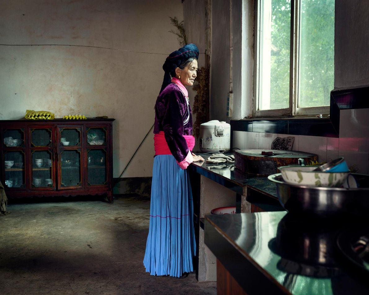 Du Zhi Ma, 61, lives in the village of Zhashi. She has been with her partner, ...