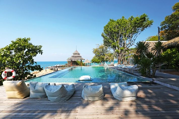 Pool, Ko Munnork Private Island, Gulf of Siam, Thailand. Image: Munnork Private Island