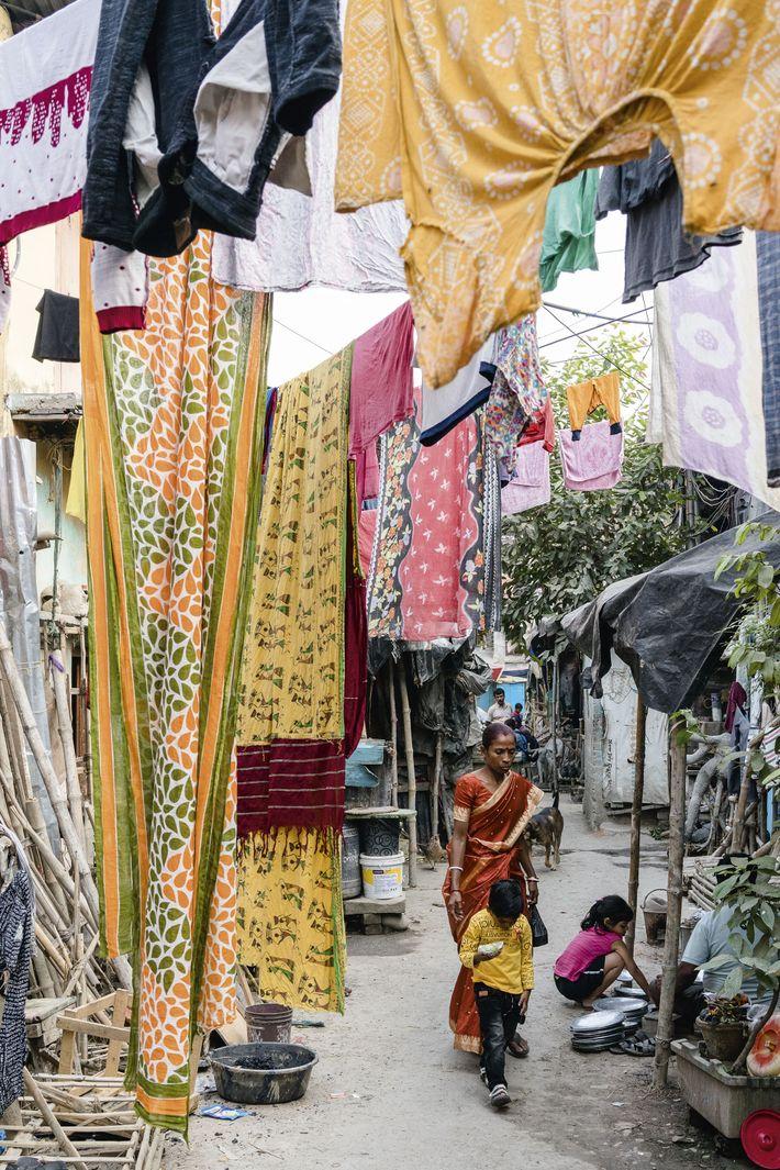 Street in Kumartuli, northern Kolkata
